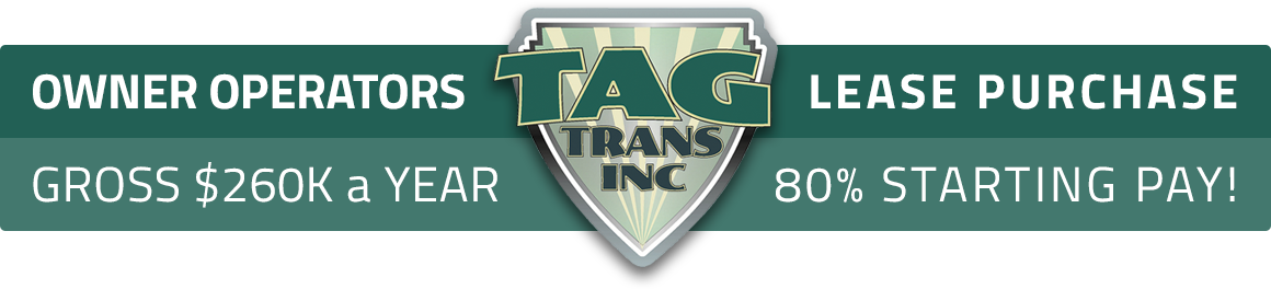 Tag Trans Owner Operator Truck Driver Jobs - Average $269k annually!